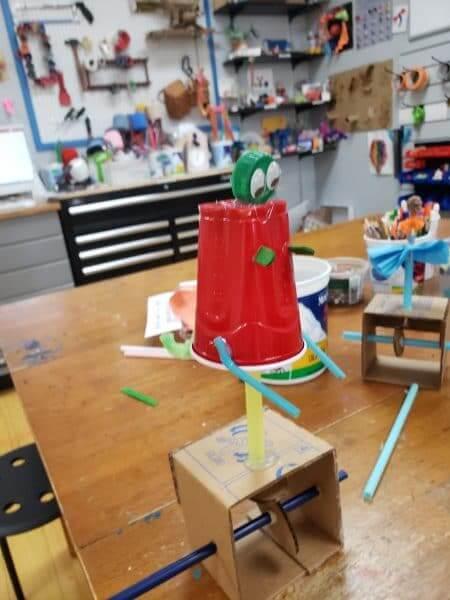 Engineering Challenge - Cardboard Automaton Dinosaur