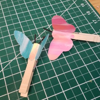 Clothespin Butterfly Automata